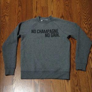 """Brunette The Label """"No Champagne No Gain."""" Sweater"""